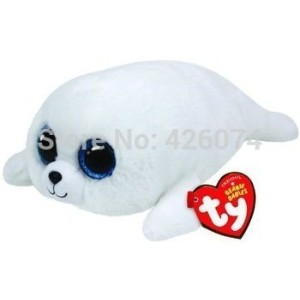 Original TY Beanie Boos Icy the Seal Big Eyed Plush Toys 15CM Kids Stuffed Animals Toys For...
