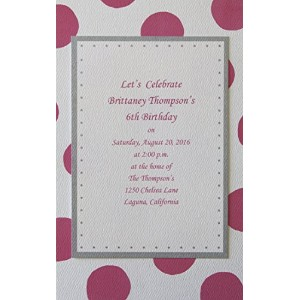 Baby Shower Invitations - Birthday Invitations - Baby Shower Invitations for Girl, Boy or Twins - Printable Baby Shower Invitations - Bridal Shower Invitations - 15 in a Pack with envelopes! by Perfect Impressions