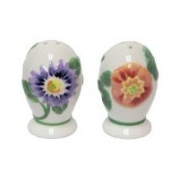 Pfaltzgraff Emma FloralコレクションEgg Collectible Salt & Pepper Shaker Set – 3.5 X 2インチ