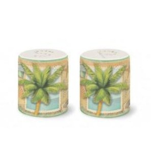 Tropical Sun and Sea PalmデザインSalt & Pepper Shaker Set – 2.5 ""