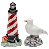 """StealStreet ss-cg-107044.13"""" Painted Lighthouse and sea gull Salt and Pepper Shaker Set"""