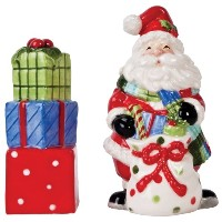 Fitz & Floyd Be MerryサンタSalt and Pepper Shakers