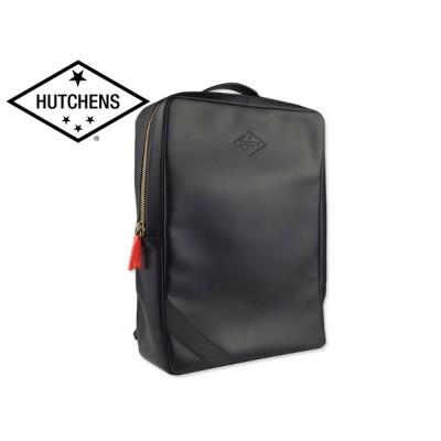 ☆HUTCHENS【ハッチェンズ】LEATHER BACKPACK BLACK レザーバックパック ブラック 16346 [通勤 通学 リュック フォーマル スタイリッシュ]