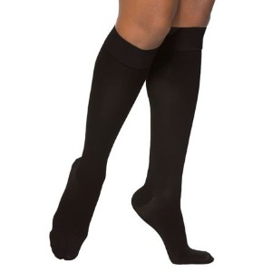 Sigvaris Access 973CSLW99 30-40 mmHg Womens Closed Toe Knee Highs, Black, Small and Long by Sigvaris