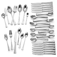 Lenox Brookfield 82 Piece Flatware Set Service for 12ステンレススチール18 / 10エレガント
