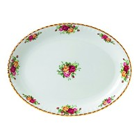 Royal Albert 40028795 Old Country Roses Oval Platter、13インチ、ホワイト