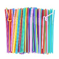 Alink brughtカラーSmoothie Straws 6mm Long Bendy ALDSD2234