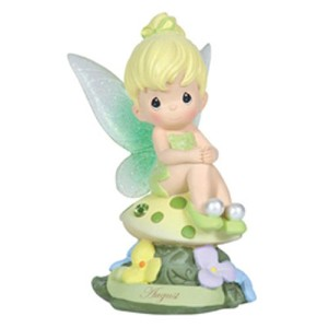 Precious Moments Disney Show Case Collection Collectible Figurine, August Fairy As Tinker Bell,...