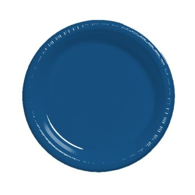 (Navy) - Creative Converting Touch of Colour 20 Count Plastic Banquet Plates, Navy