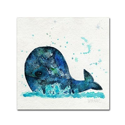 商標FineアートWyanne ' Little Whale 'キャンバス 18x18 ALI8218-C1818GG