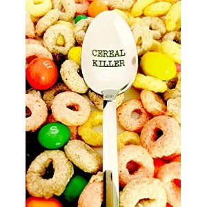 Giant Cereal Killerスプーンby weenca-engraved spoon-unique Big CerealスプーンBest Teenagersギフト 14157482