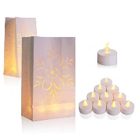 30 Flamelessちらつきティーライト – イエローLED Tealight Candles with 30発光体ボーナスバッグ