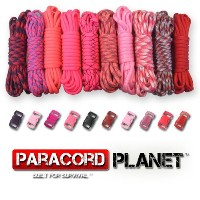 Paracord Planet 550lb Type IIIパラコードコンボ工芸キットwith Buckles ( Reddy )