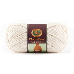 Lion Wool-Ease Thick and Quick 毛糸 超極太 クリーム系 170g 約98m