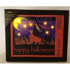 Happy Halloween Witch Wayちらつきライトキャンバス表示ライトUp Wicked Witch