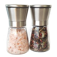 Sale : Foodie元Salt and Pepper Millセット – Spice Grinder Set with粗さ調節可能 – Salt and Pepper Shaker...