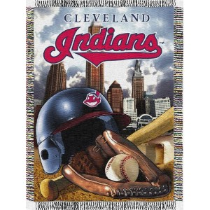"MLB Cleveland Indians Home Field Advantage Woven Tapestry Throw、48 "" x 60 """