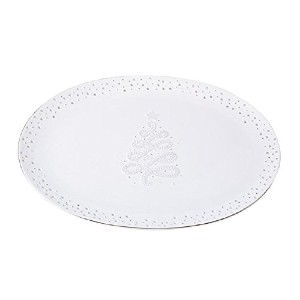 Mud Pie Winter Wonderland Pierced Platter