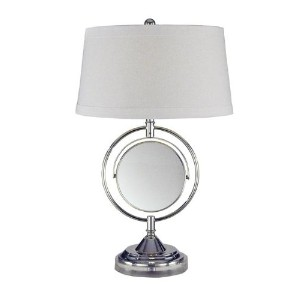 Dale Tiffany PT12301 Contessa Table Lamp with Mirror, Chrome by Dale Tiffany Lamps