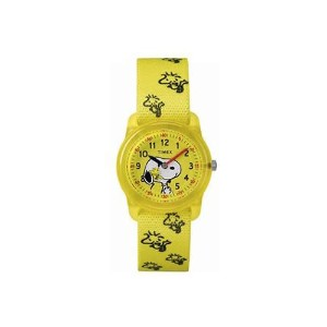 TIMEX KIDS タイムティーチャー 腕時計 TW2R41500 スヌーピー SNOOPY (イエロー)
