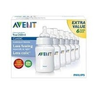 (フィリップス 哺乳瓶) Philips AVENT BPA Free 6-Pack Bottles - 9 oz.