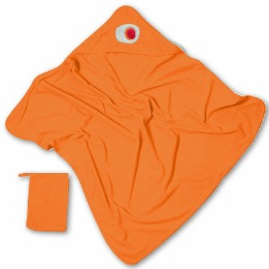 Baby Boum Pucci Hooded Bath Towel and Wash Mitt - Jaffa Orange