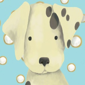Oopsy Daisy Radley The Dalmation Stretched Canvas Wall Art by Meghann O'hara, 10 by 10-Inch by Oopsy Daisy