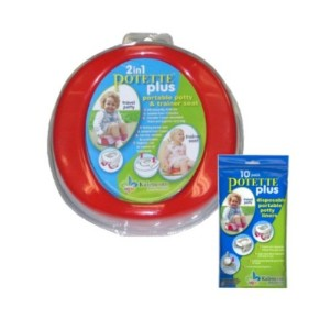 Potette Plus Travel Potty includes EXTRA Liners (Assorted Colors) by Kalencom