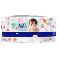 Unscented Baby Wipes in a Resealable Pack- Bulk Case of 12 (80 Unscented Wipes in a Resealable Pack...