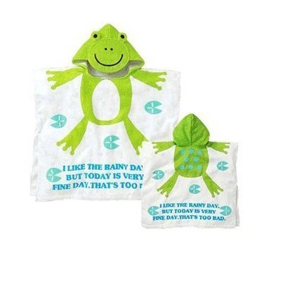 Cute Animal Toddler and Baby Hooded Towel Poncho - Sold and Free Shipping From United States (Frog...