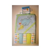 Cutie Pie Hooded Towel & 5 Washcloths by Unknown