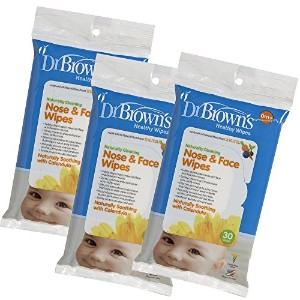 Dr. Brown's 3 Piece Nose and Face Wipes by Dr. Brown's