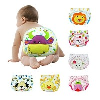6 X Baby Toddler Girls Cute Boys Potty Training Pants reusable (100, Design 1) by NO.1987 commerce
