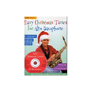Easy Christmas Tunes For Alto Saxophone. Partitions, CD pour Saxophone Alto, Accompagnement Piano