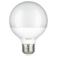Sunlite G25/LED/7W/D/FR/ES/27K Led G25 Globe 7W (60W Relacement) Frosted Light Bulb Medium (E26)...