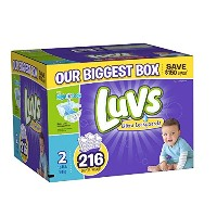 Luvs with Ultra Leakguards, Economy Plus Pack, Size 2, 216 ea by Luvs