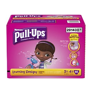 Pull-Ups Training Pants with Learning Designs for Girls, 3T-4T, 66 Count (Packaging May Vary) by...