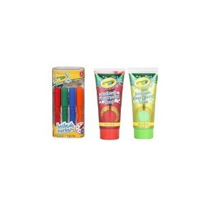 Crayola Bathtub Markers 4 count + Crayola Bathtub Fingerpaint Soap 2 ct by Crayola