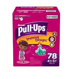 Huggies Pull-Ups Training Pants for Girls with Learning Designs, Biggie Pack, 4T-5T, 42 ea by Pull...