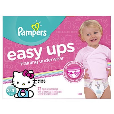 Pampers Girls Easy Ups Training Underwear, 3T-4T (Size 5), 72 Count - Packaging May Vary by Pampers