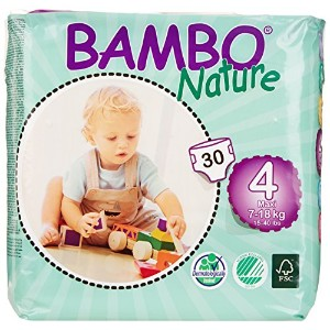Abena Bambo Nature Premium Baby Diapers, Maxi, Size 4, 30 Count (Pack of 6) by Bambo Nature [並行輸入品]