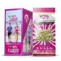 Liquid Energy - Ginseng Energy Shot, Delicious Coffee Flavor, 24 Count by Vital 4U