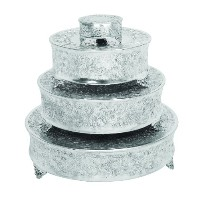 Deco 79 Aluminum Cake Stand for Stylish Host, Set of 4 by Deco 79