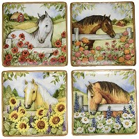 Certified International Heartland Dinner Plates ( Set of 4 )、10.5インチ、マルチカラー