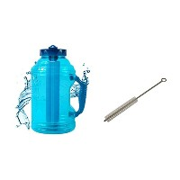 Cool Gear Ez Freeze 75 Ounce Water Bottle (Comes with FREE Straw Brush, Sport Drink Recipe, and...