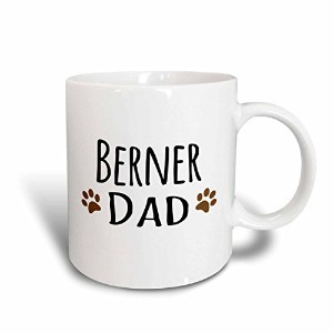 3drose 3drose Berner Dad – Bernese Mountain Dog – Doggie by Breed – ブラウンMuddy Paw Prints –...