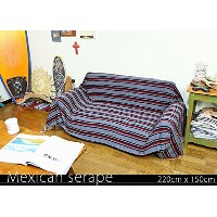 RUG&PIECE Mexican Serape made in mexcico ネイティブ メキシカン サラペ メキシコ製 220cm×150cm (rug-5936)