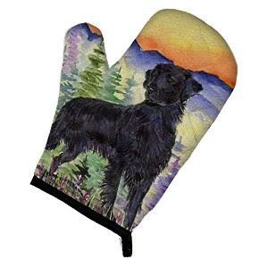 "Caroline 's Treasures ss8263ovmt Flat Coated Retrieverオーブンミット、12 "" by 8.5インチ、マルチカラー"
