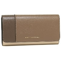 マークジェイコブス 財布 MARC JACOBS M0012047 064 SAFFIANO COLORBLOCKED FLAP CONTINENTAL レディース 長財布 FRENCH GREY...