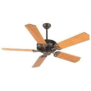 Craftmade K10018 American Tradition Ceiling Fan with Custom Wood Walnut Blades, 52, Aged Bronze...